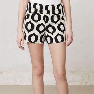Anthro Cartonnier Ikat Print Pattern Shorts